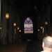 Het glasraam binnen in de Cathedral.