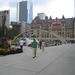 Het plein vóór het oude en het nieuwe stadhuis