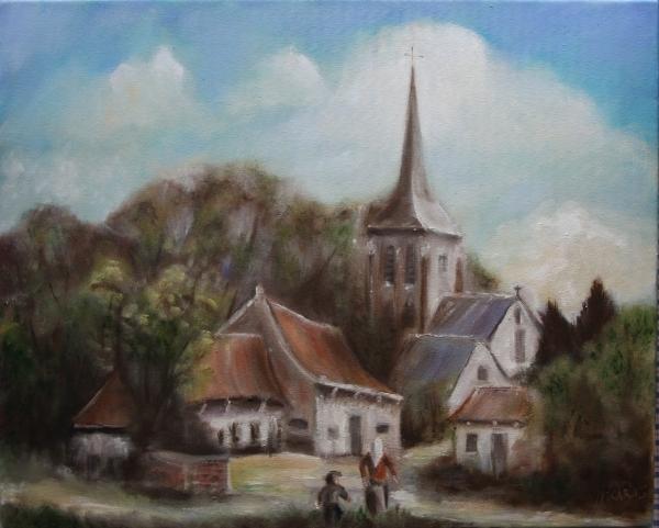 Schilderij oma kleinzoon dorpje mijn schilderijen gratis foto albums seniorennet - Associatie van kleur e geen schilderij ...