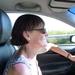 2009_08_23 002 onderweg naar Reims - Mieke in auto