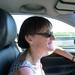 2009_08_23 003 onderweg naar Reims - Mieke in auto