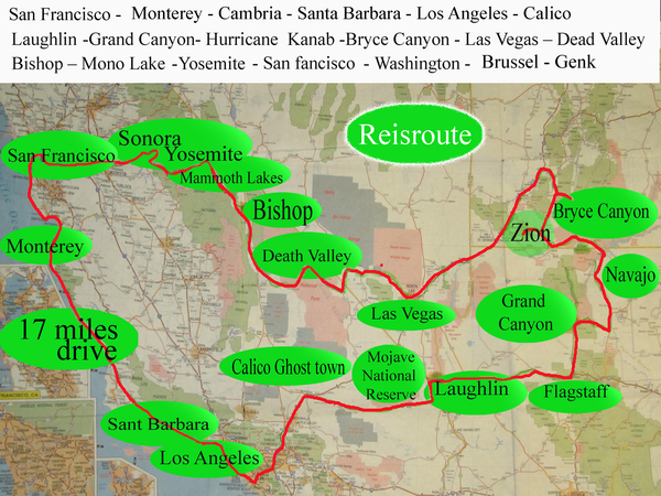 Grand tour of the west Reisroute