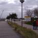 Voorlopig einde van de promenade aan de werken voor de uitbreidin