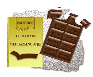 cocolade reep getekend in fotoshop