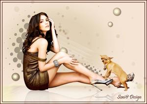 dame met hondje