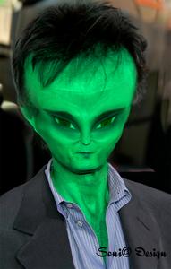 Een alien gemaakt