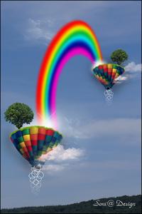 kleurrijke regenboog