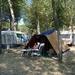Ons plekje op Camping Lido Trasimeno