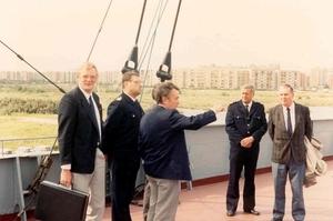 Georg Buchner '89 Antwerpse delegatie wordt verwelkomt door Zeeva