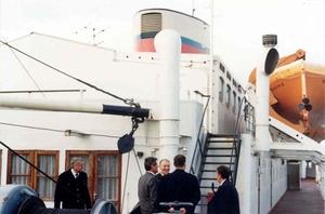 Georg Buchner '89 zicht naar passagier deck