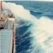 CMB schip m/v Rubens 1967 golven op North Atlantic