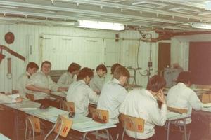 Georg Buchner 1989 zeevaartschool cadetten in de klas-1