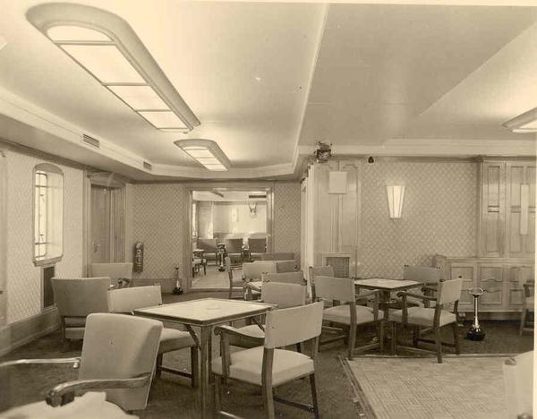 Charlesville - origineel interieur - het salon - 2 Schip ...