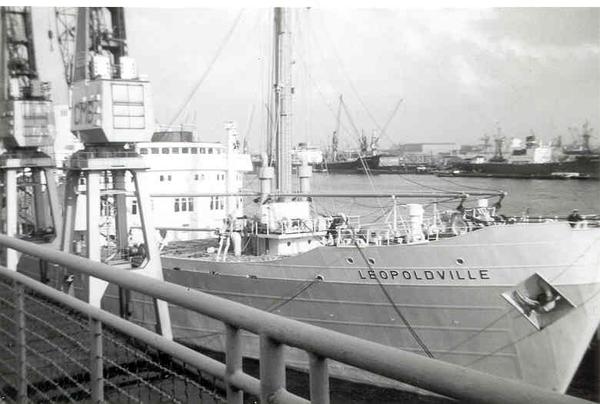 Vertrek Leopoldville kaai 214 Zeestaion aug. 1966 N°1