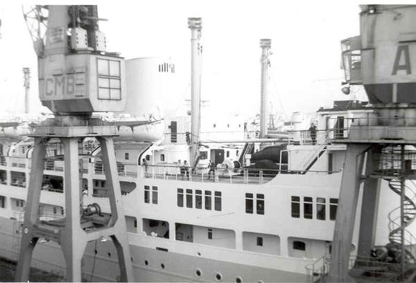 Vertrek Leopoldville kaai 214 Zeestation Aug 1966 N°3