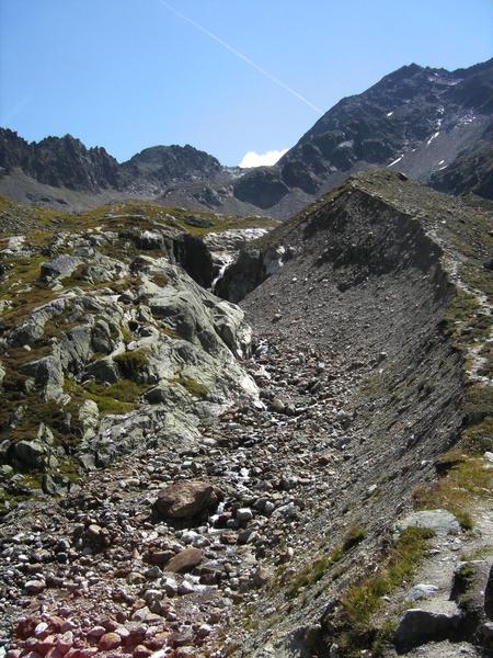 Morene, oude gletsjerbedding