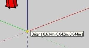 Origin wandered off 0,0,0