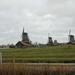 zicht op de molens in Zaandam