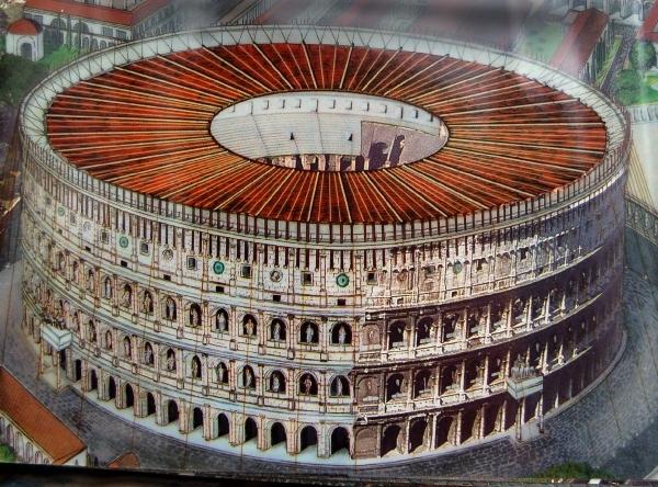 E1582 Colosseum Met Dak Rome September 02 Gratis Foto