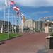 Aankomst op de promenade in Noordwijk aan Zee.