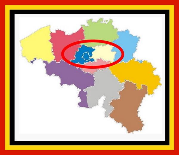 Afbeelding kaart Brussel – Halle – Vilvoorde