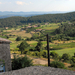 zicht op de vallei vanuit het hotel in Sanilhac
