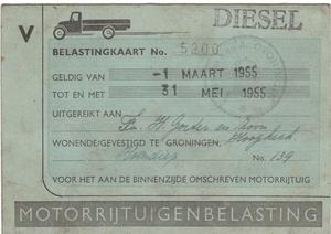 Belasting kaart 1955