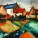 Landschap naar M. De Vlaminck