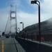 op Golden Gate in de mist