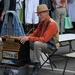 Muzikant op de markt