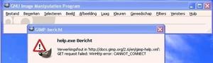 GIMP-HELP-error