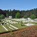 Zicht vanaf de Butte op de begraafplaats