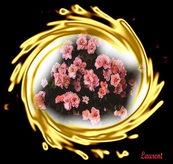 bloemen in goud
