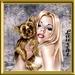 een blondje met een hondje