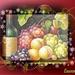 stilleven van fruit en wijn
