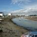 en de rivier de Vie bij laag water