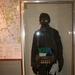 Een soldaat met uitrusting tegen een gasaanval
