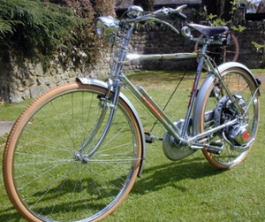 Comrade Cyclemaster 1953 Chrome Superbe Boss Bike 2