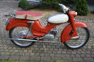 DKW. Hummel Super  rood