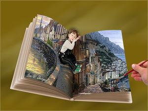 plaatjes in het boek geplaatst