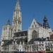Antwerpen  OLV kathedraal  vanaf de Groenplaats
