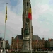 Belfort met beeld van Breydel and De Coninck
