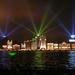 1 Shanghai _de bund vanaf de Huang Pu rivier bij avond