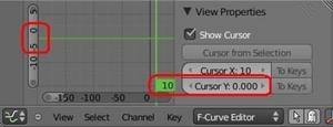 F-curve editor