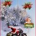 Kerstman op motor