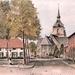 St Martinuskerk van Rijmenam ingekleurde pentekening