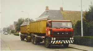 DAF met containers