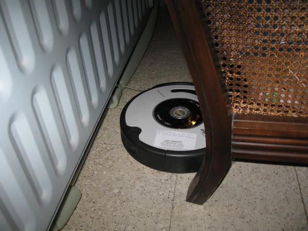 de Roomba Robot poetst het huis 011