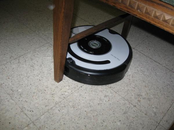 de Roomba Robot poetst het huis 012