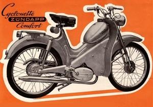 Cyclonette met Z�ndapp motor 1960